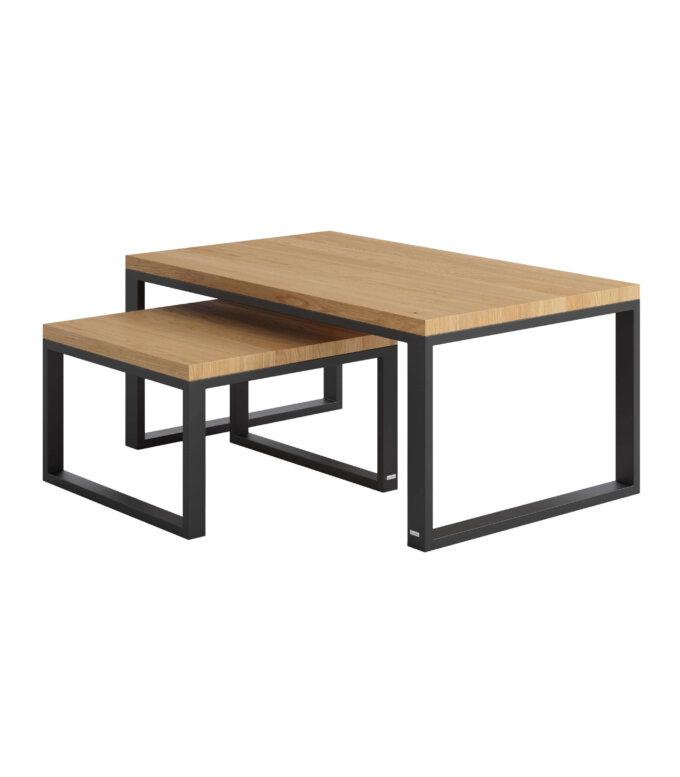 minimalistyczne stoliki duet