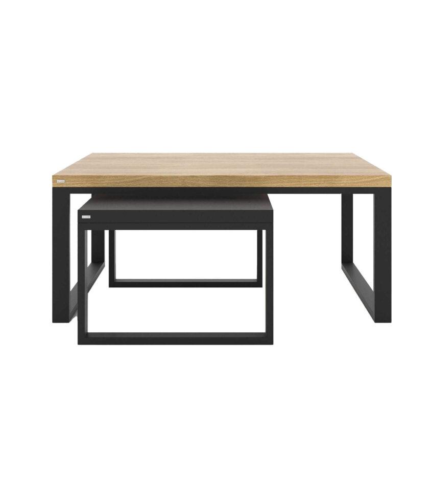 industrialne stoliki duet stal drewno