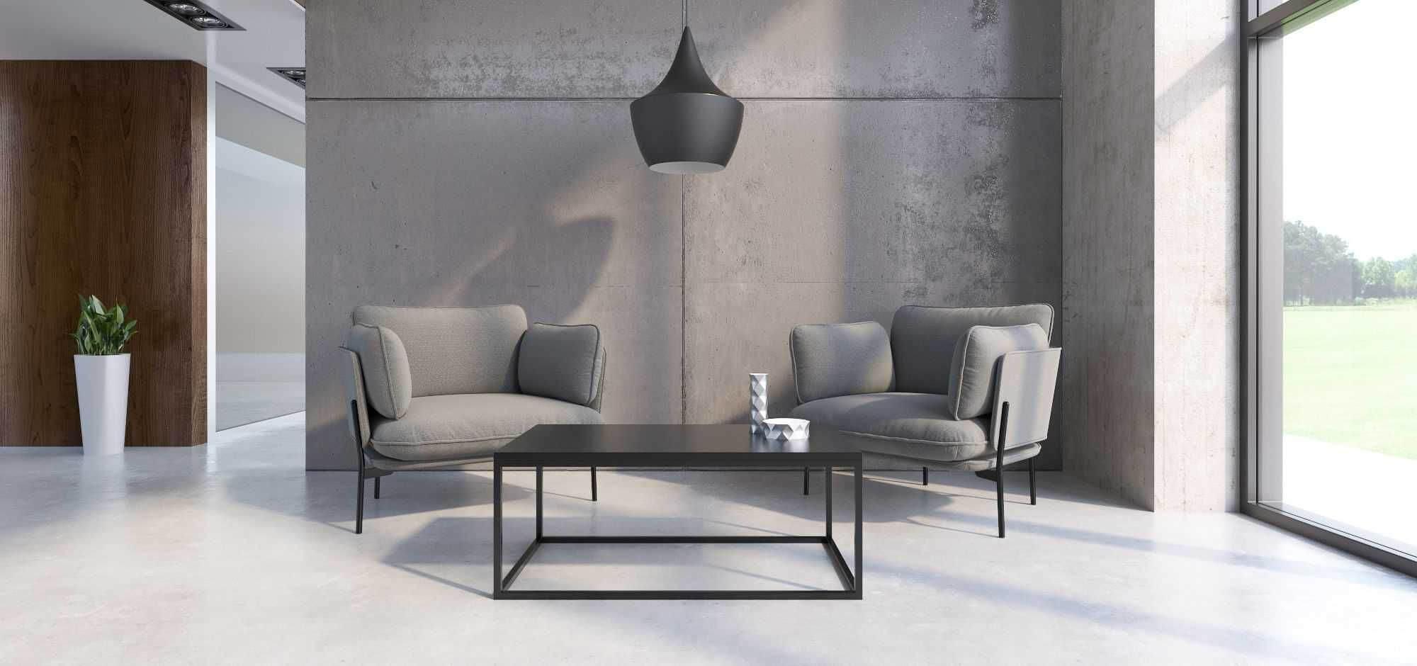 czarny minimalistyczny stolik kawowy qubik
