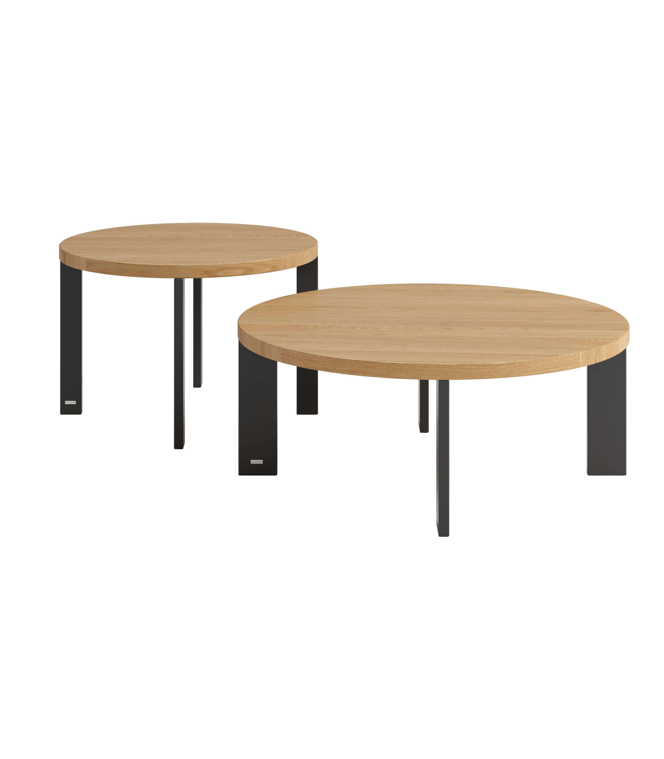 stolik do salonu okrągły polski dab