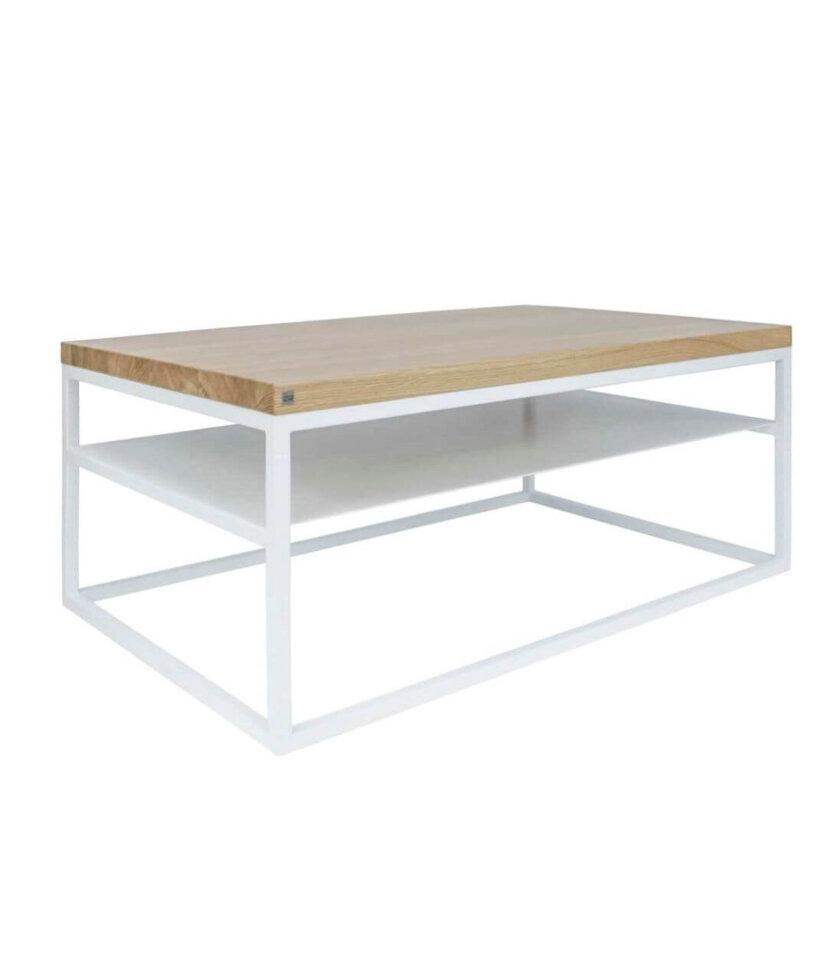 minimalistyczny stolik kawowy malmo z polka