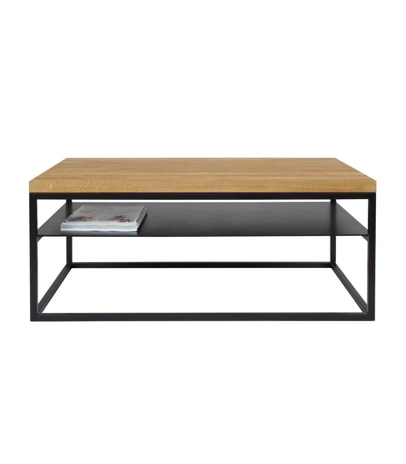 loftowy stolik kawowy z półką malmo - take me HOME