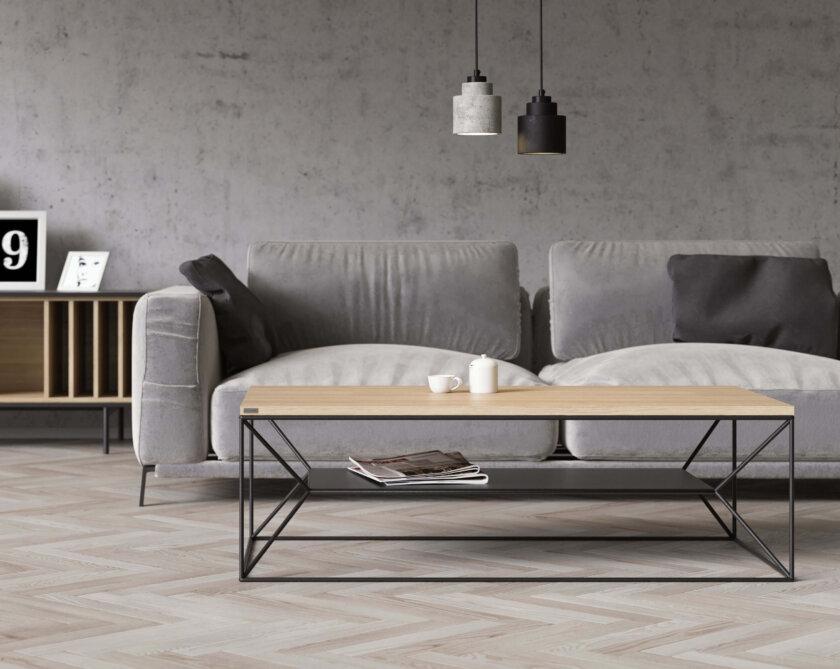 debowy stolik w stylu skandynawskim maximo
