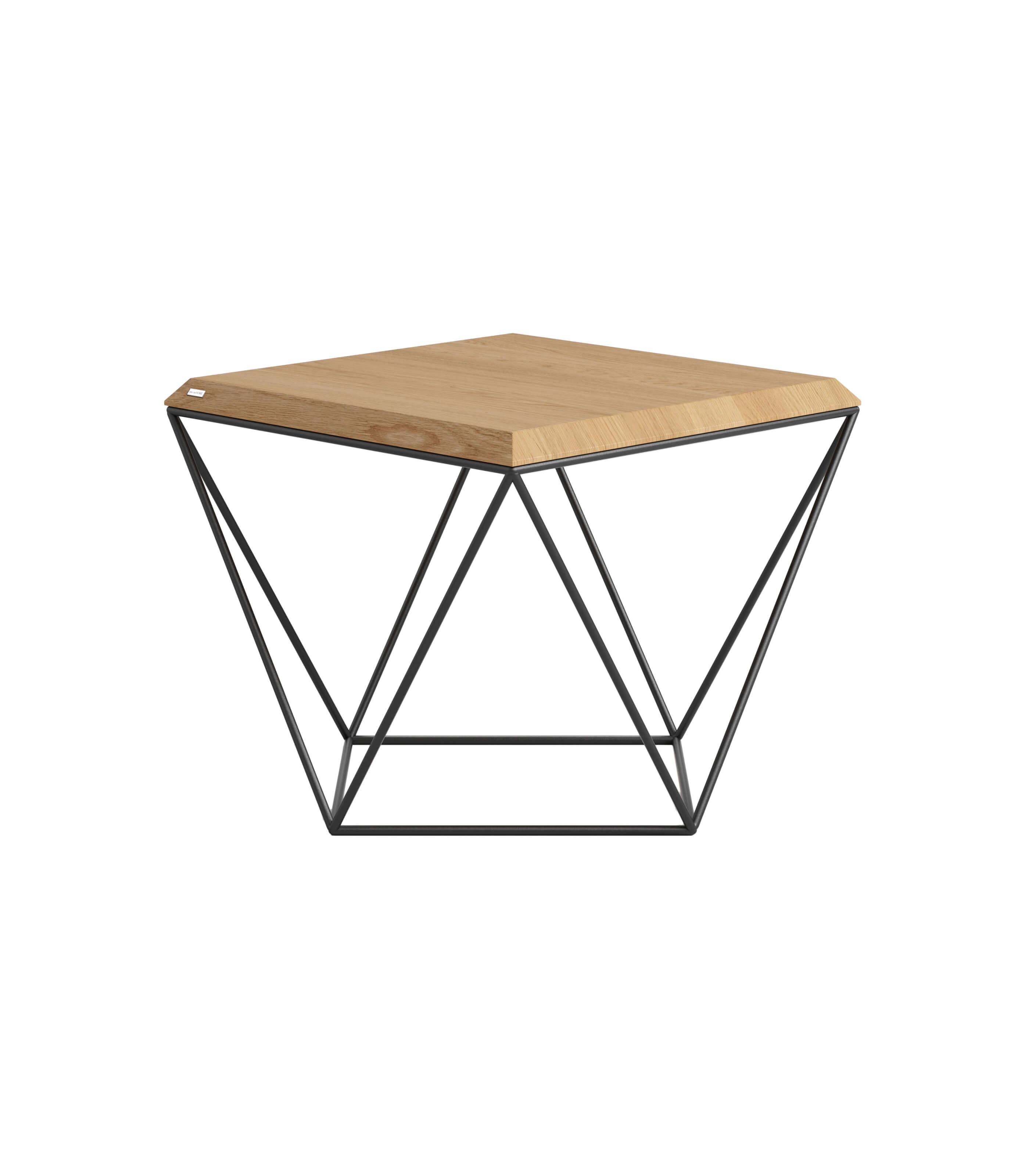 stolik kawowy industrialny loft dąb biały lub czarny