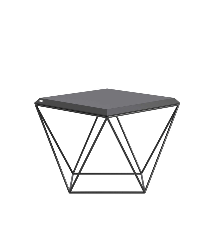 czarny geometryczny stolik kawowy nowoczesny