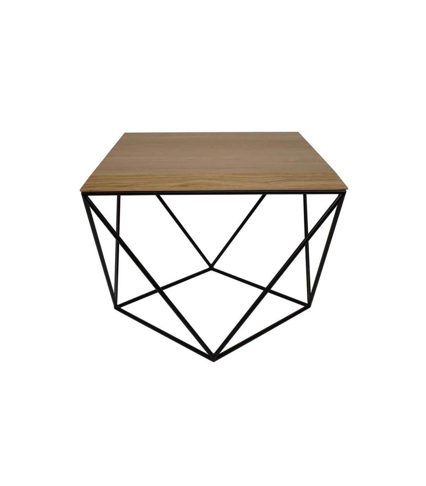 stolik kawowy czarny nowoczesny diament