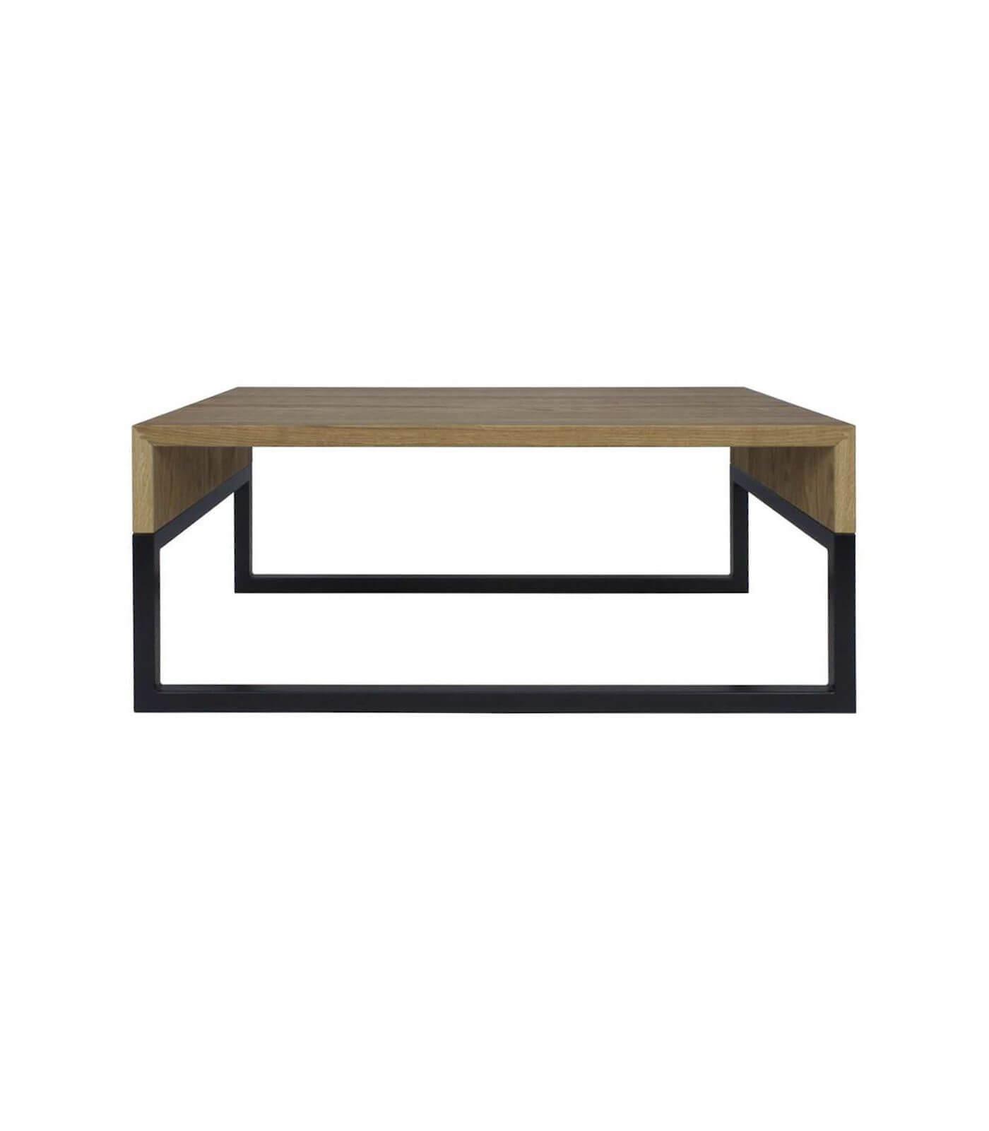 stolik kawowy industrialny czarny drewniany