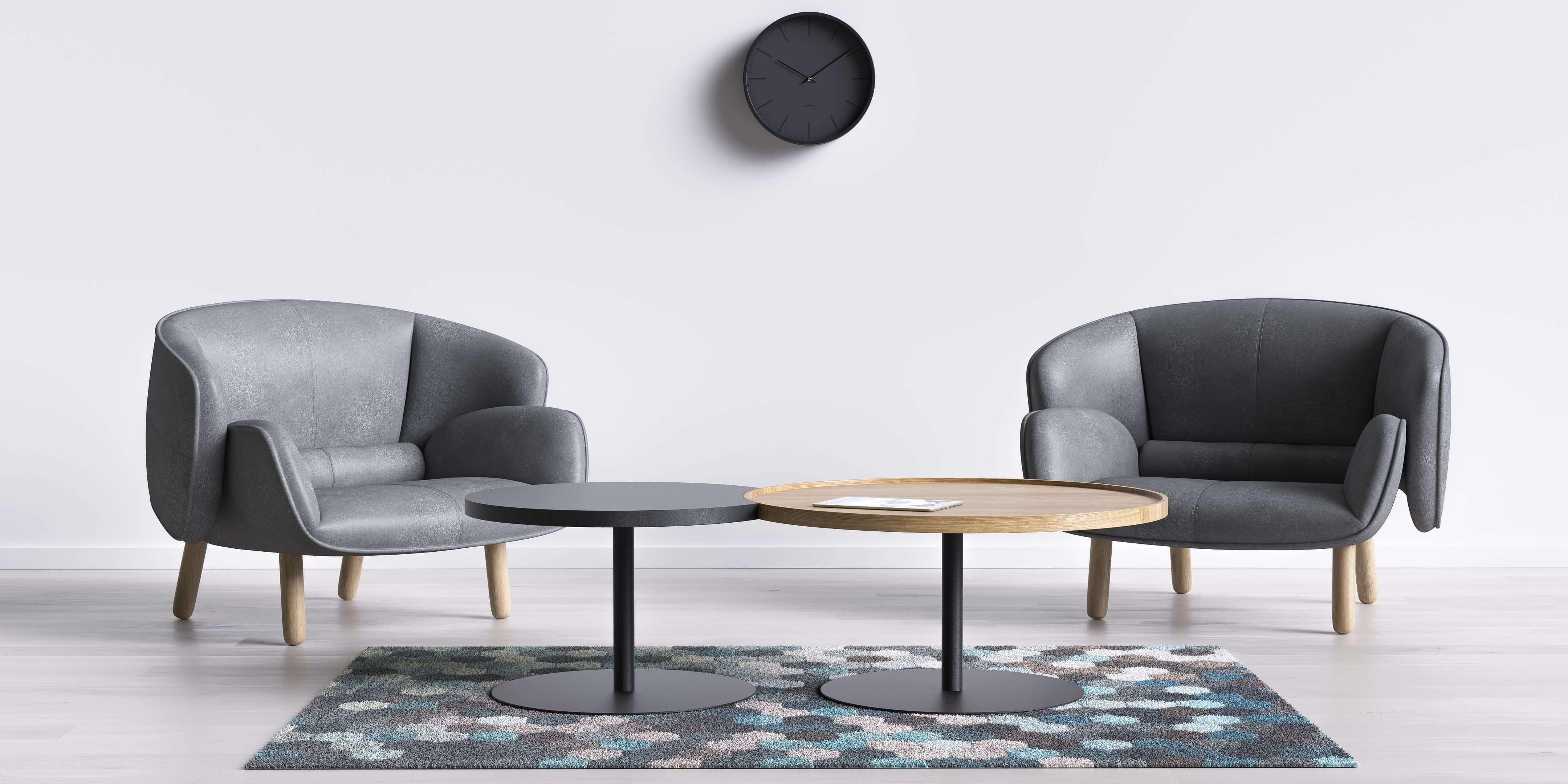 stolik kawowy skandynawski okrągły