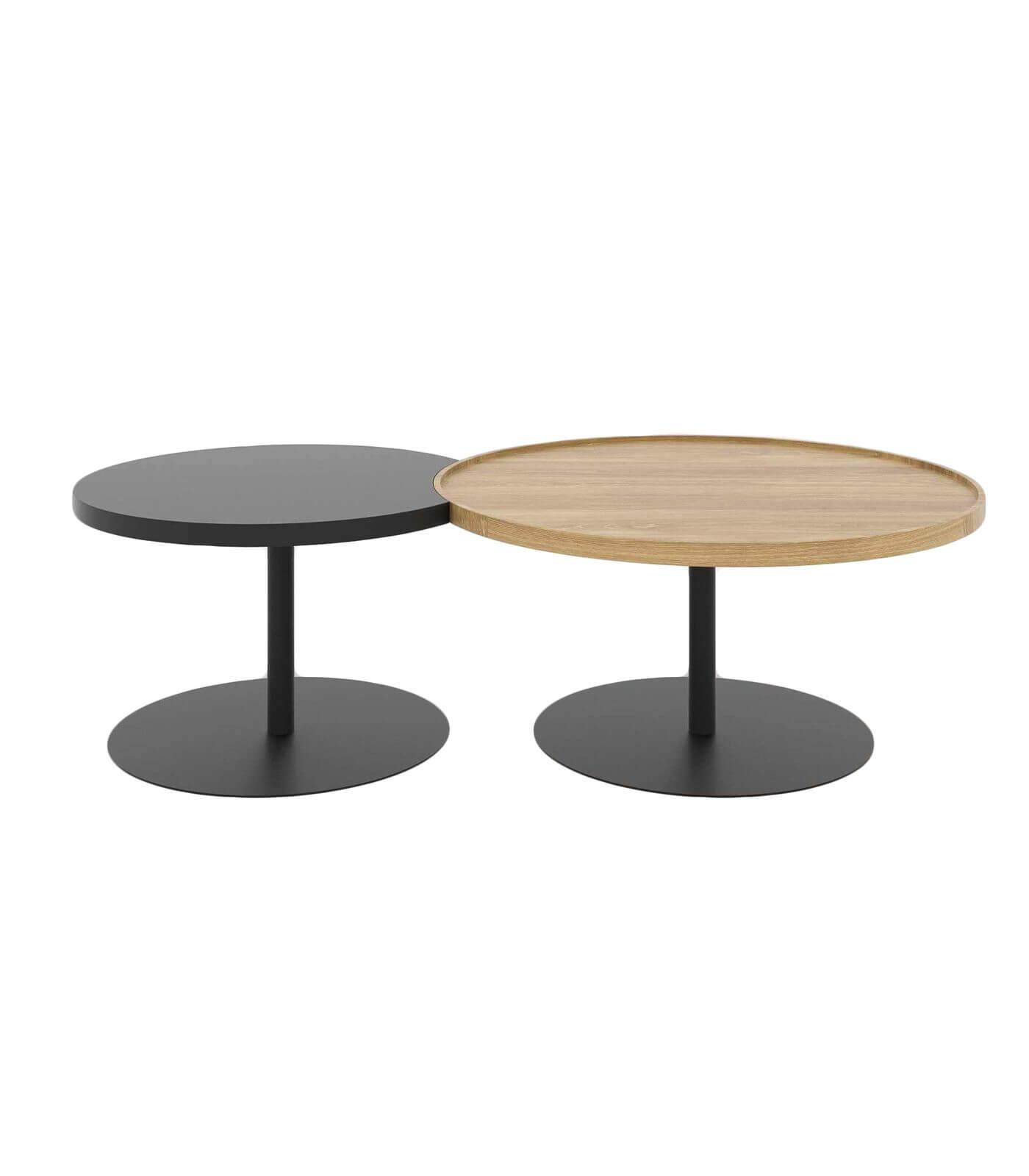 stolik kawowy nowoczesny czarny okrągły zestaw