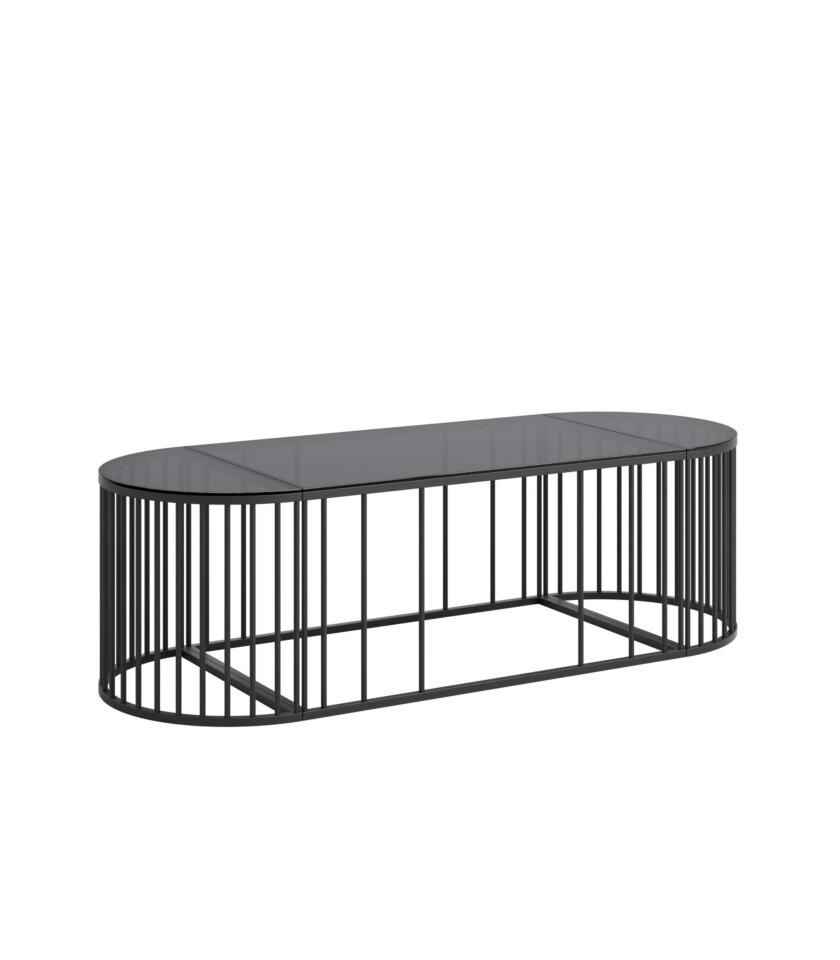 czarny owalny stolik elegancki