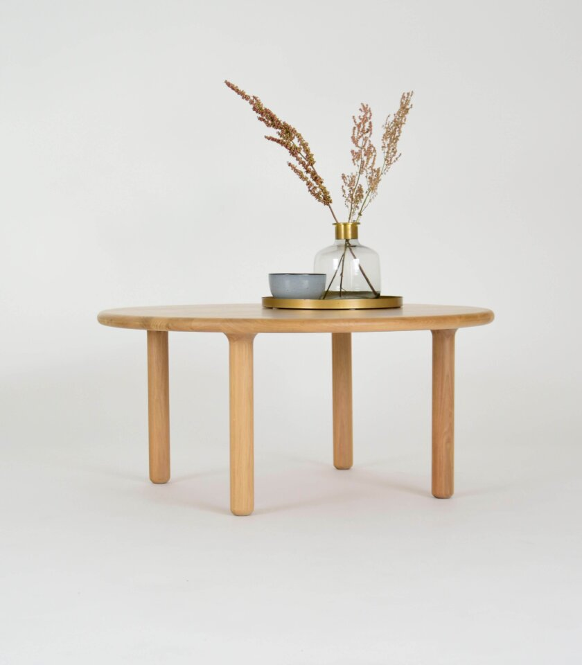 nowoczesny debowy drewniany stolik kawowy