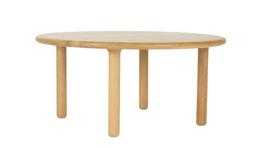 okrągły dębowy stolik kawowy – MILO