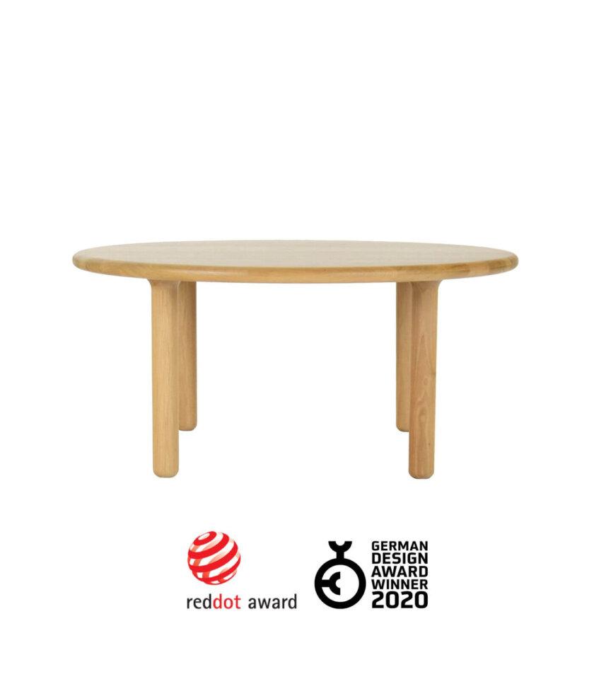 debowy okragly stolik kawowy red dot