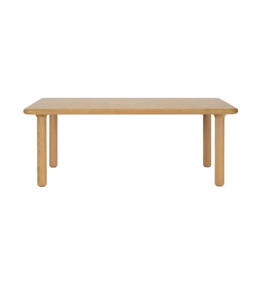 skandynawski debowy stolik kawowy