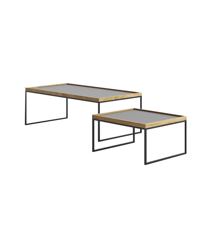 stolik z taca tray table czarny