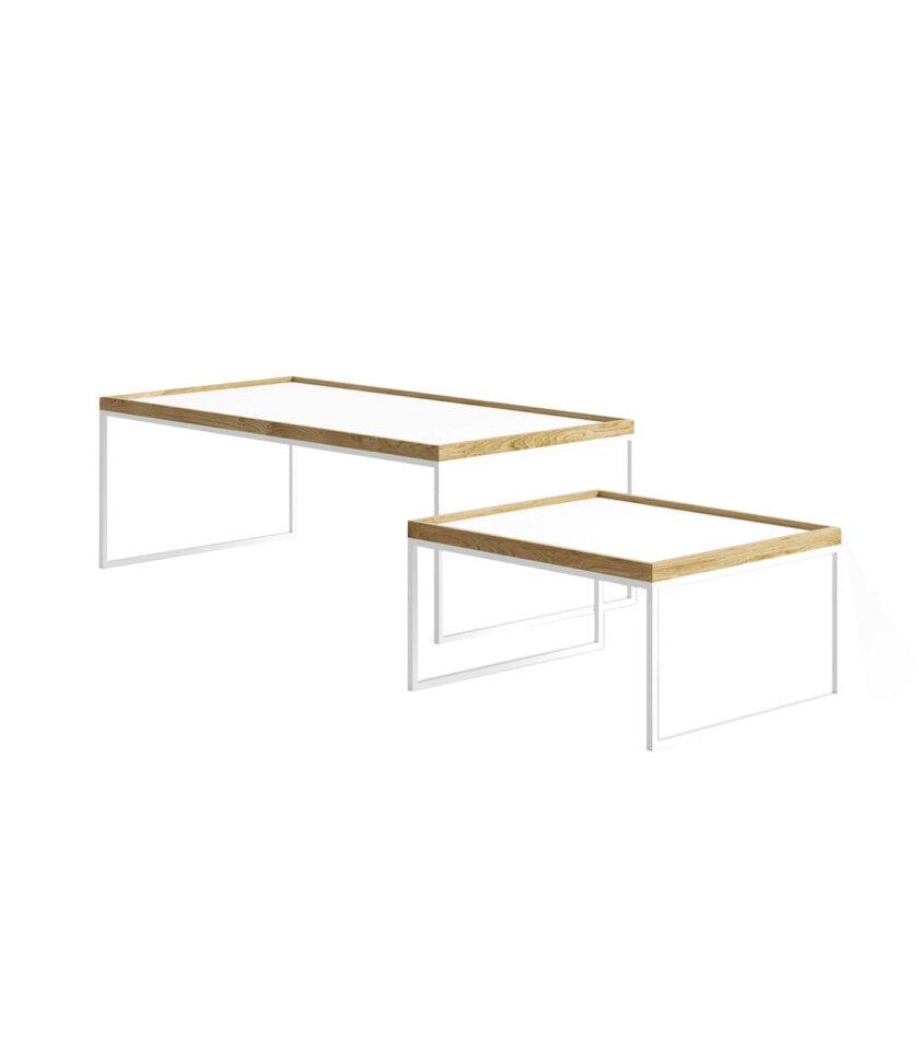 tray table stolik z taca bialy