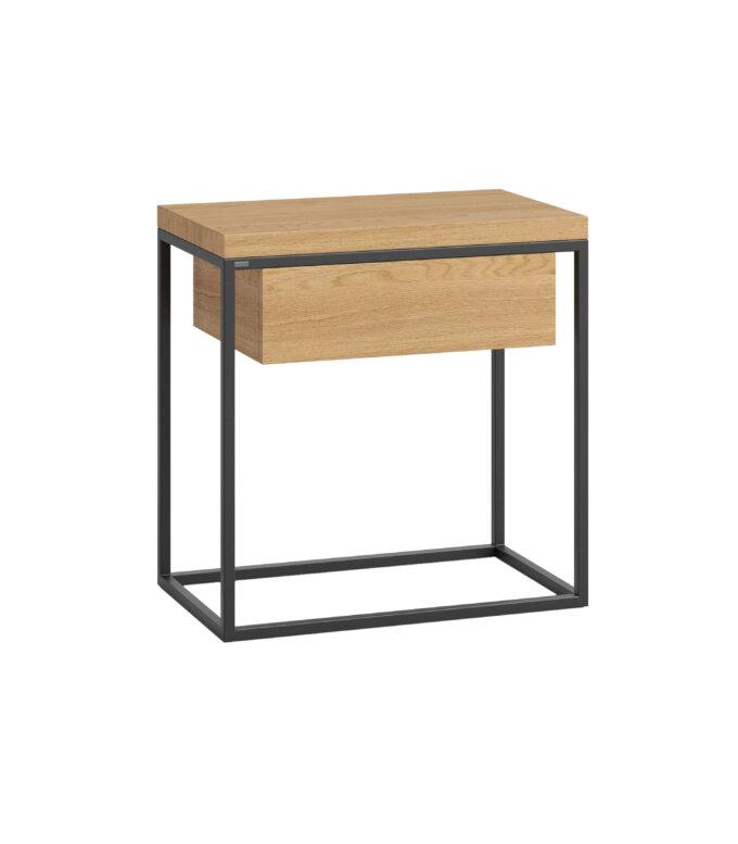 debowy stolik nocny z szuflada