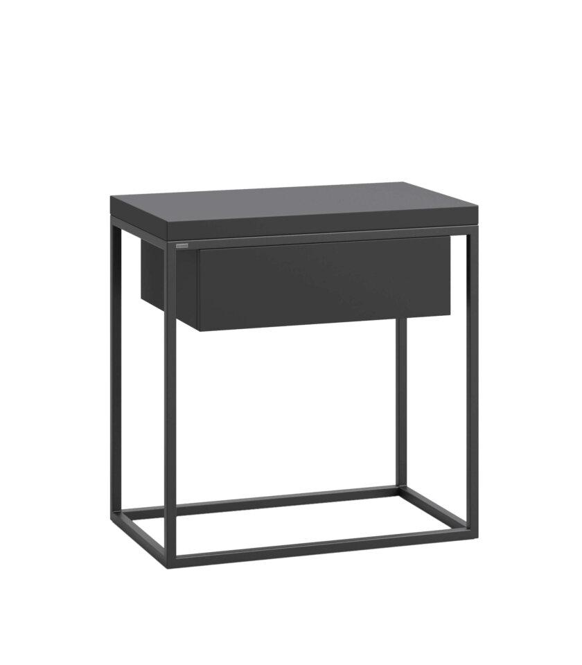 czarny stolik nocny z szuflada