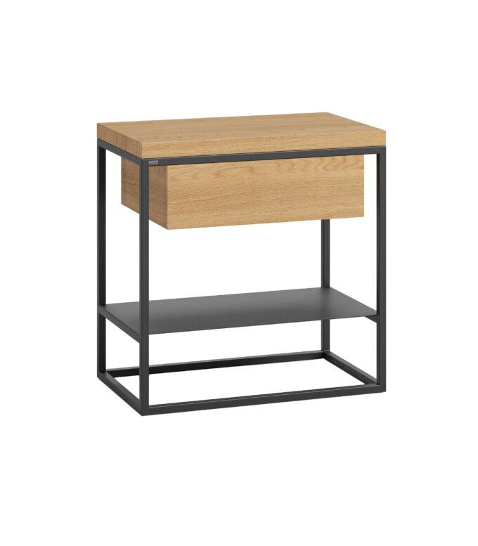debowy stolik pomocniczy