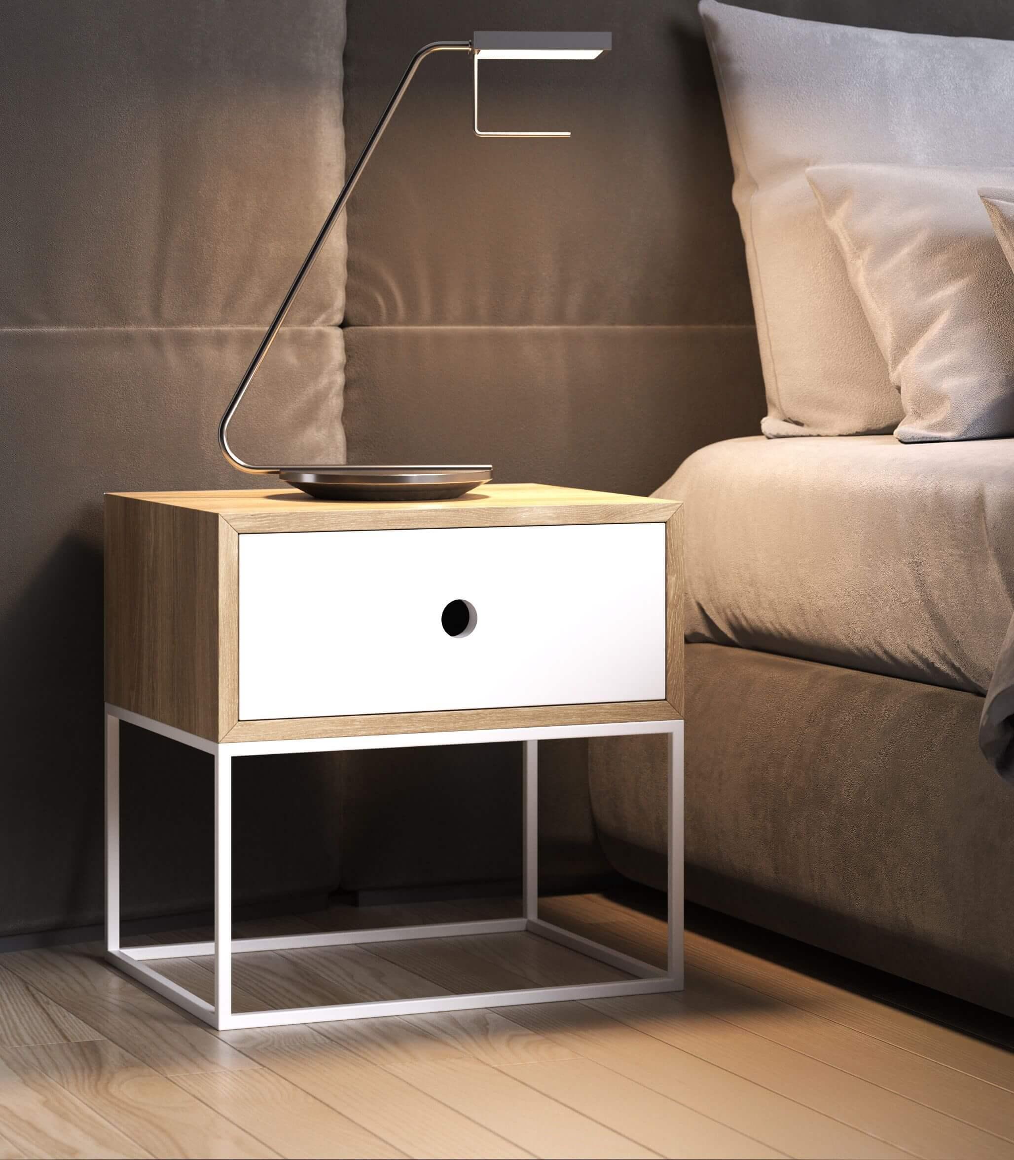 nowoczesny stolik nocny z szufladą arsen - take me HOME