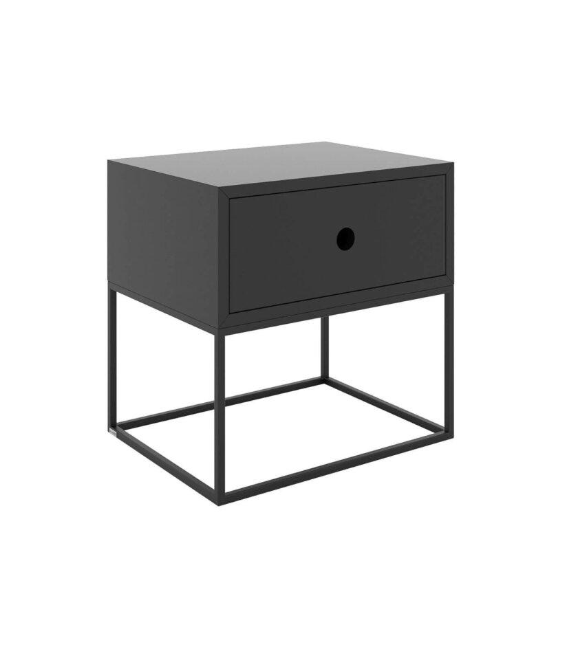 czarny minimalistyczny stolik z szuflada