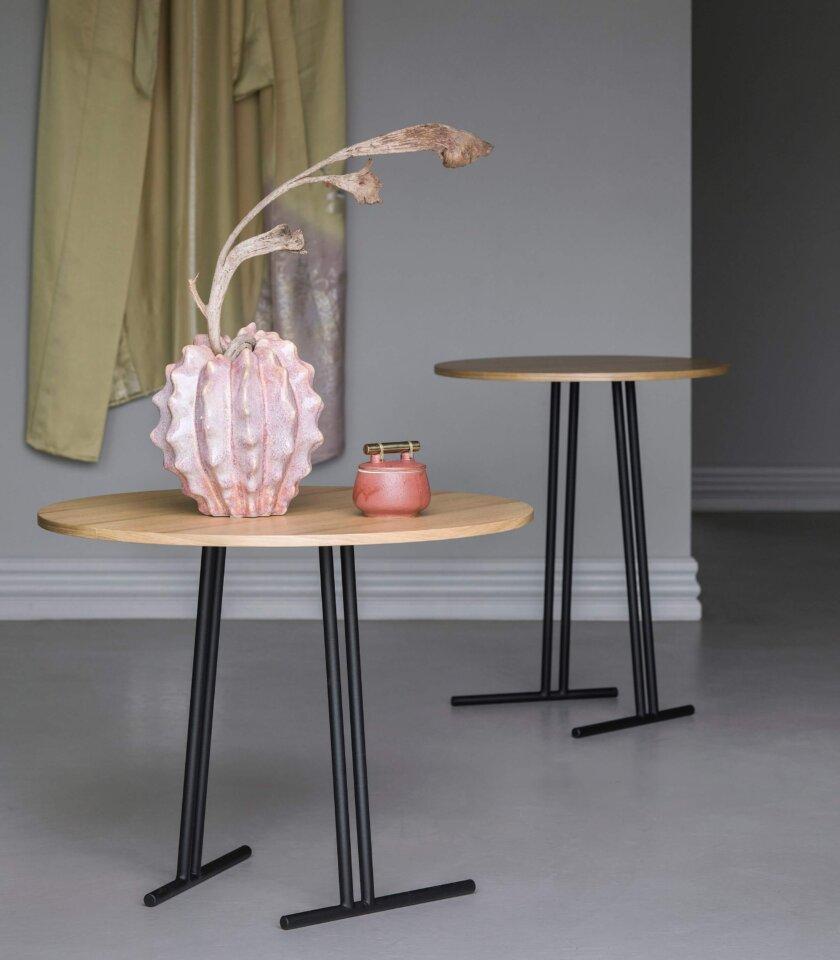stolik kawowy okragly dab naturalny