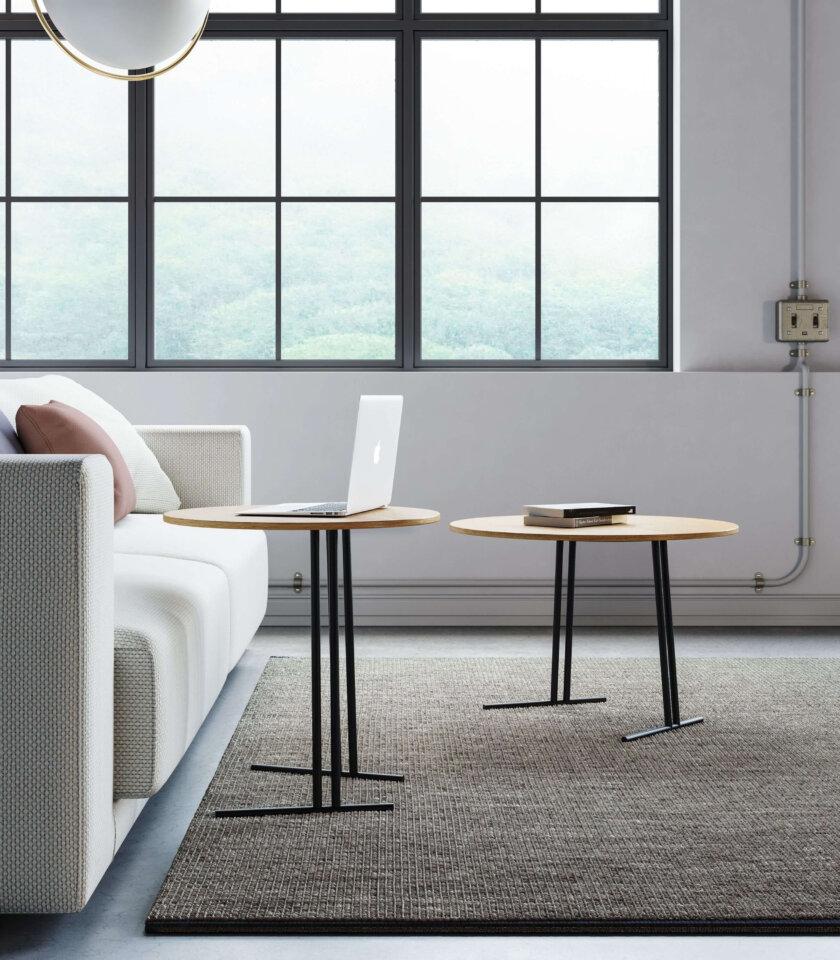 stolik kawowy pomocniczny do sofy nowoczesny debowy blat