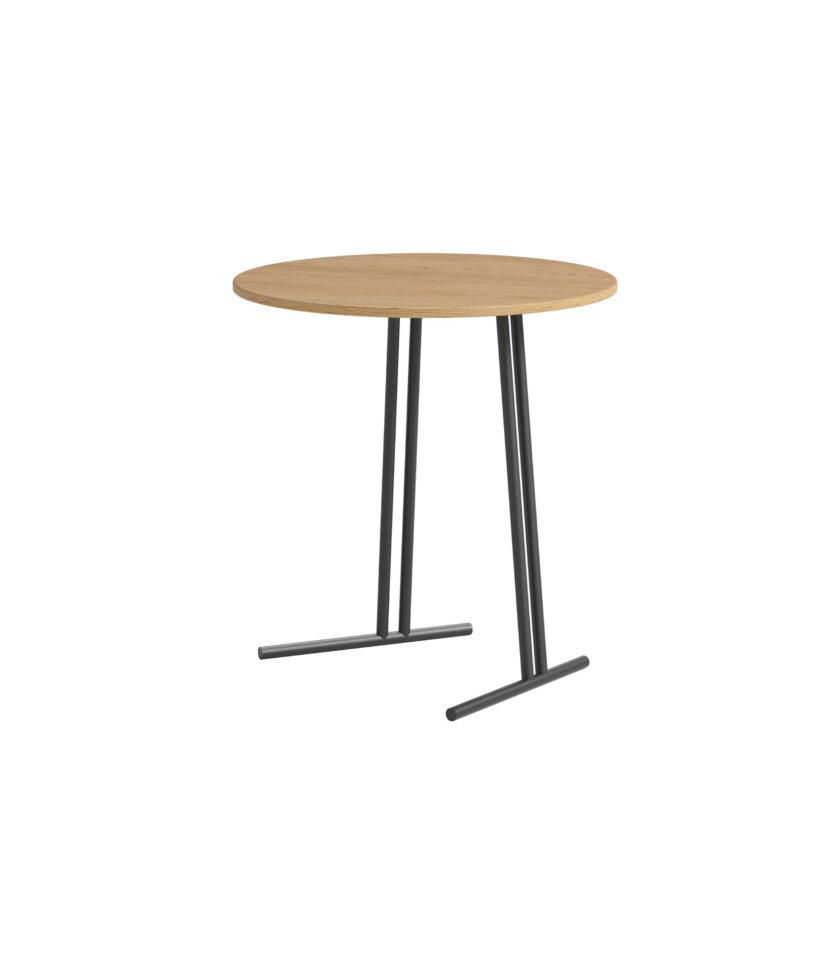 stolik pomocniczy do sofy okragly dab naturalny