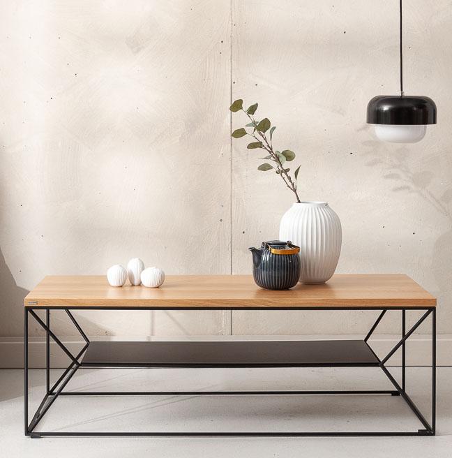 stolik z polka w stylu nowoczesnym