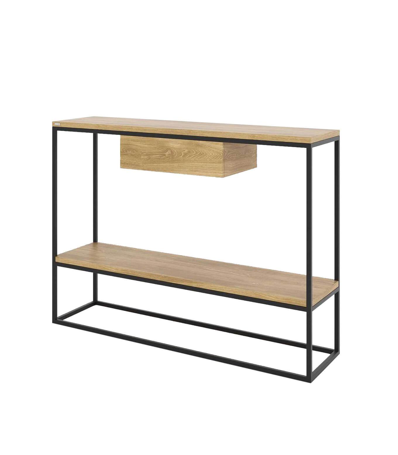minimalistyczna konsola z szufladą