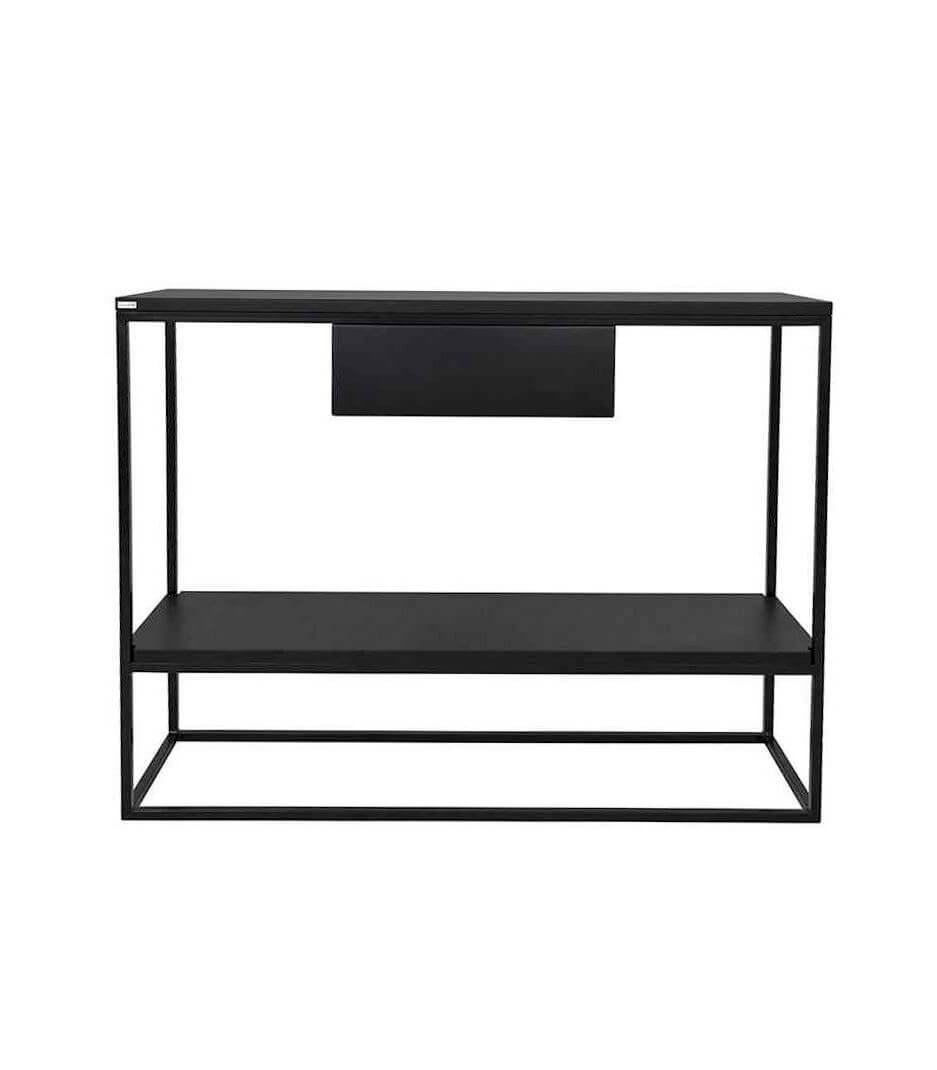 czarna konsola z półką