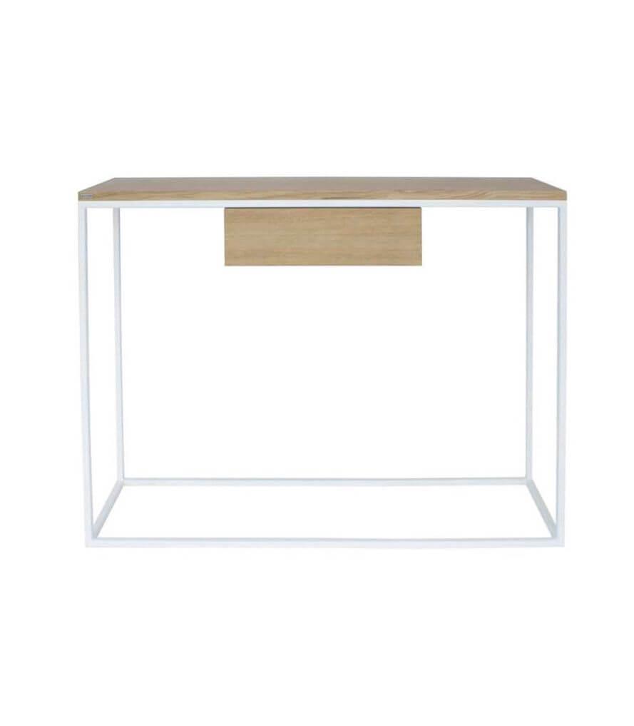 biała konsola z szufladą