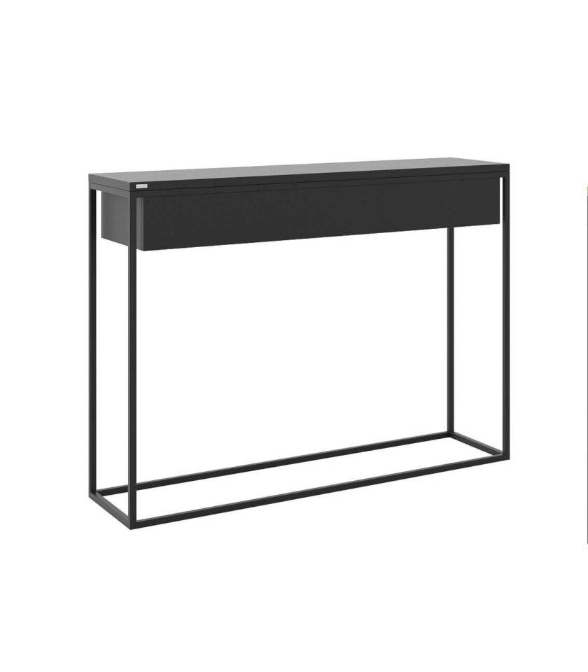 czarna minimalistyczna konsola z szuflada