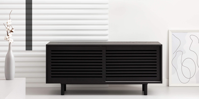 szafka minimalistyczna czarna debowa