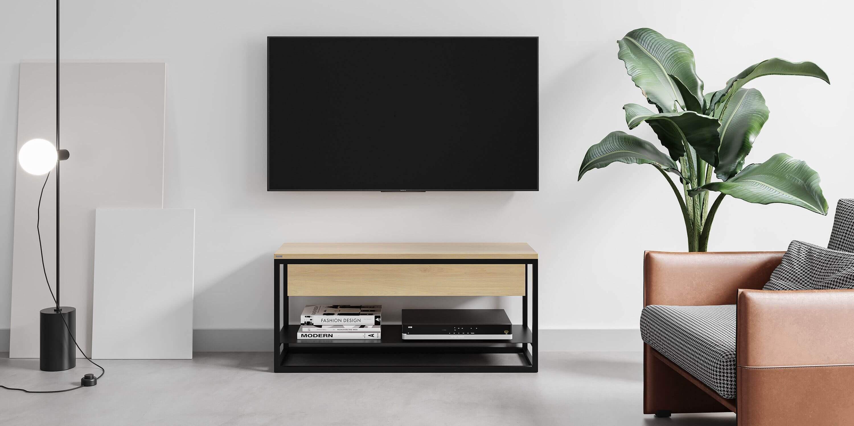 polka szafka pod telewizor z szuflada