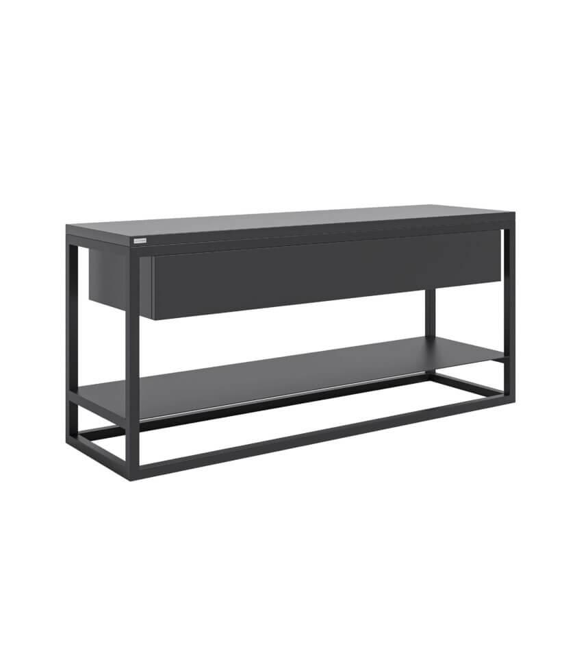 czarny minimalistyczny stolik rtv