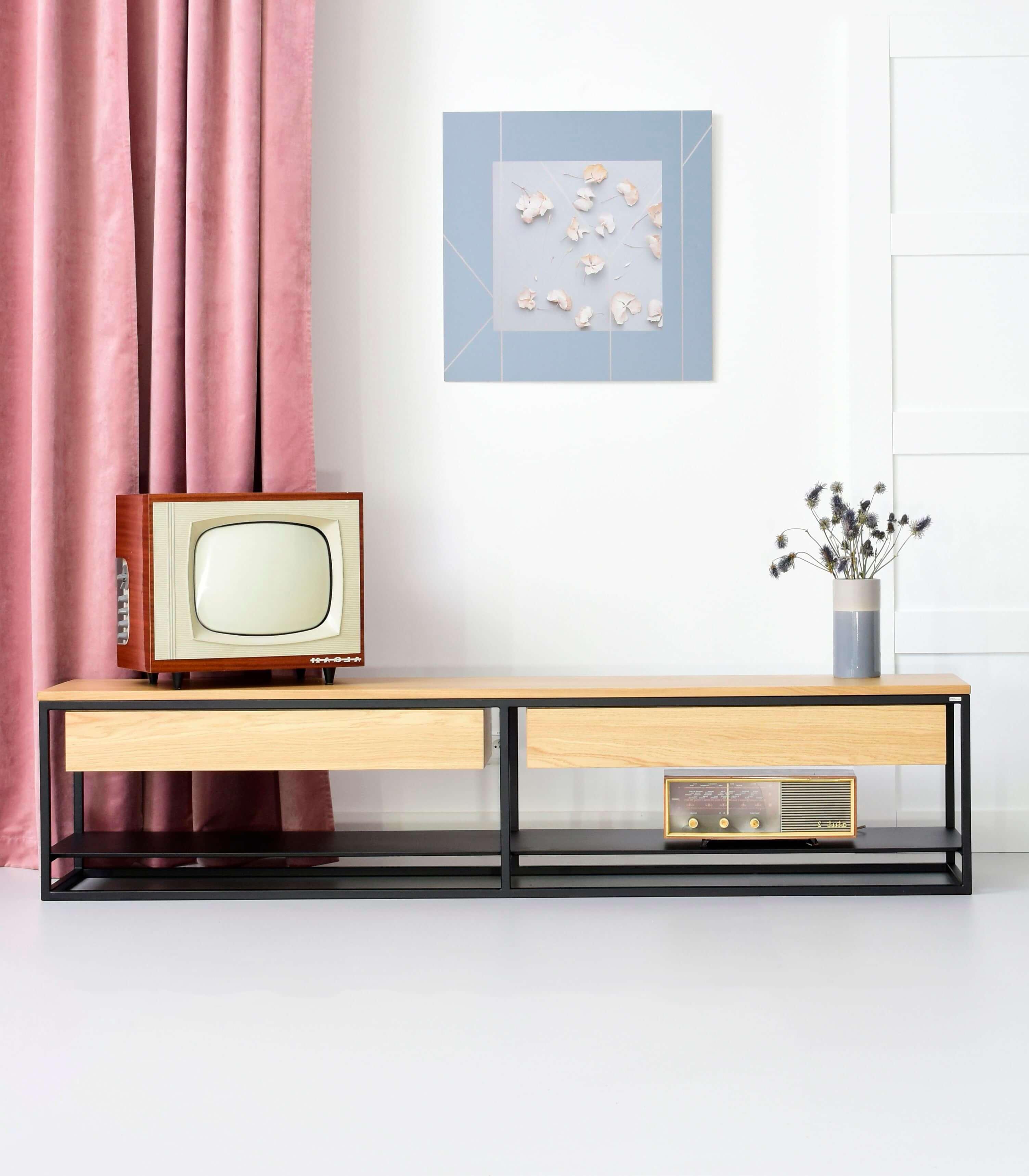 szafka rtv pod telewizor na sprzet z szufladami