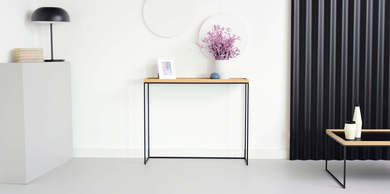 konsola nowoczesna w stylu loftowym z taca dab