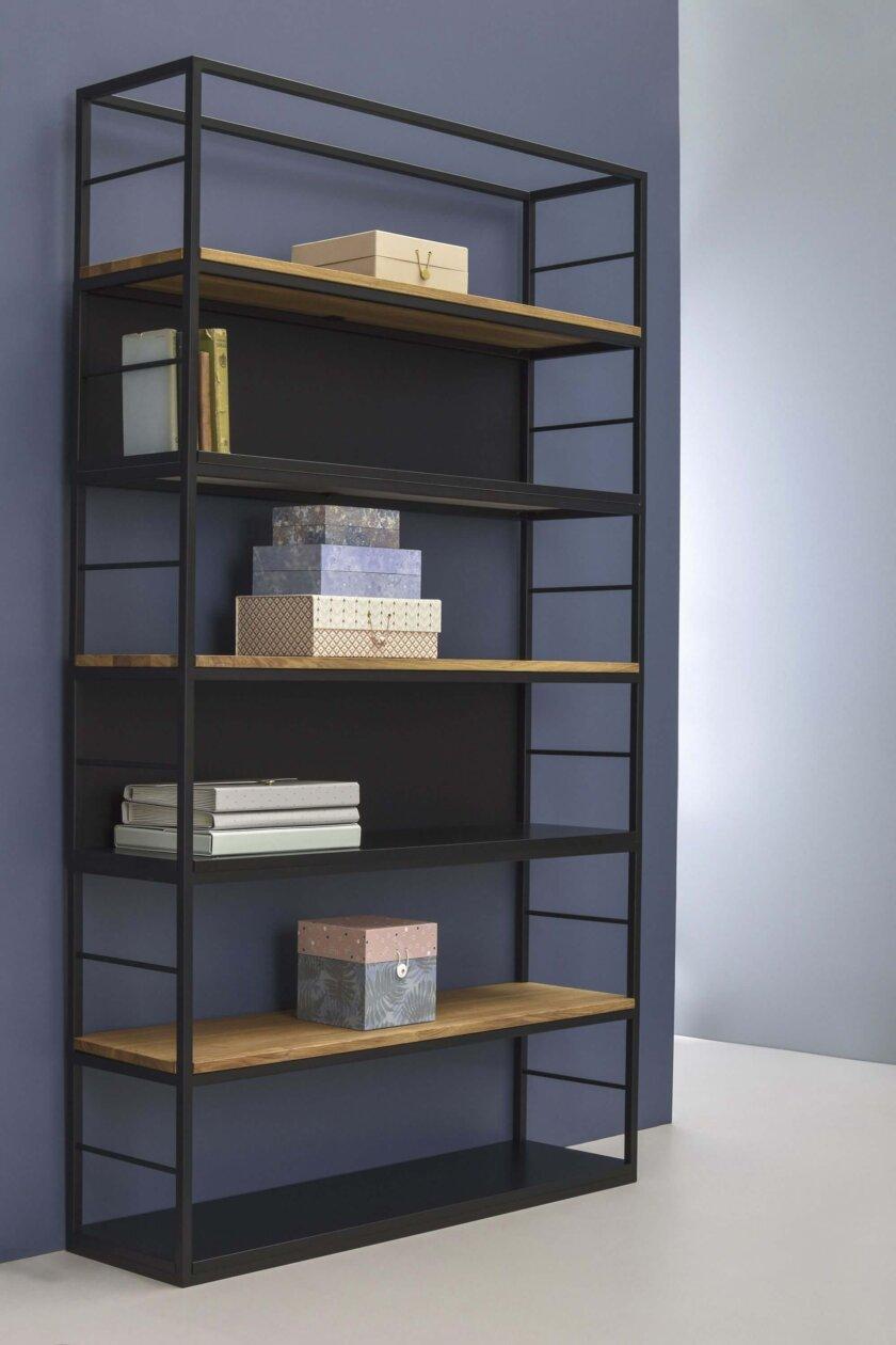 nowoczesny regal drewniany ladder