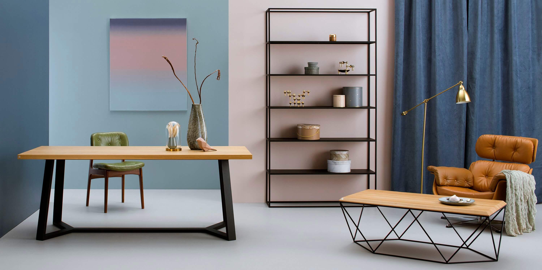 czarny minimalistyczny regal loftowy