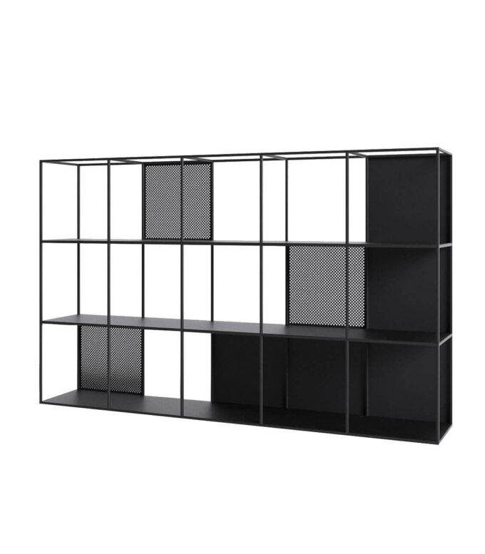 regal minimalistyczny nowoczesny czarny