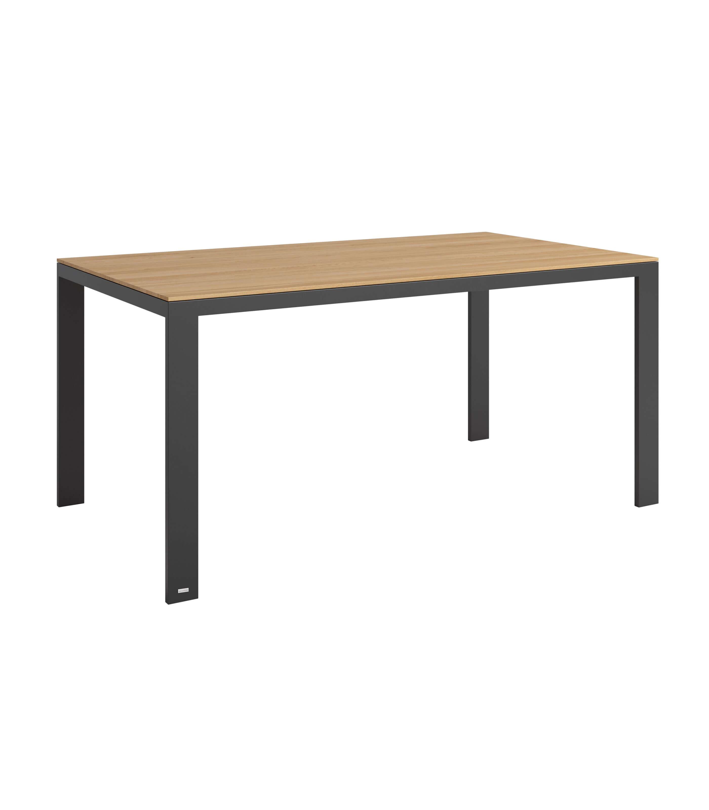 stół dębowy nowoczesny do jadalni czarny