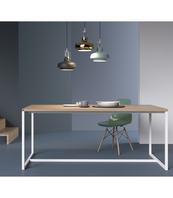 stół designerski dębowy biały do salonu