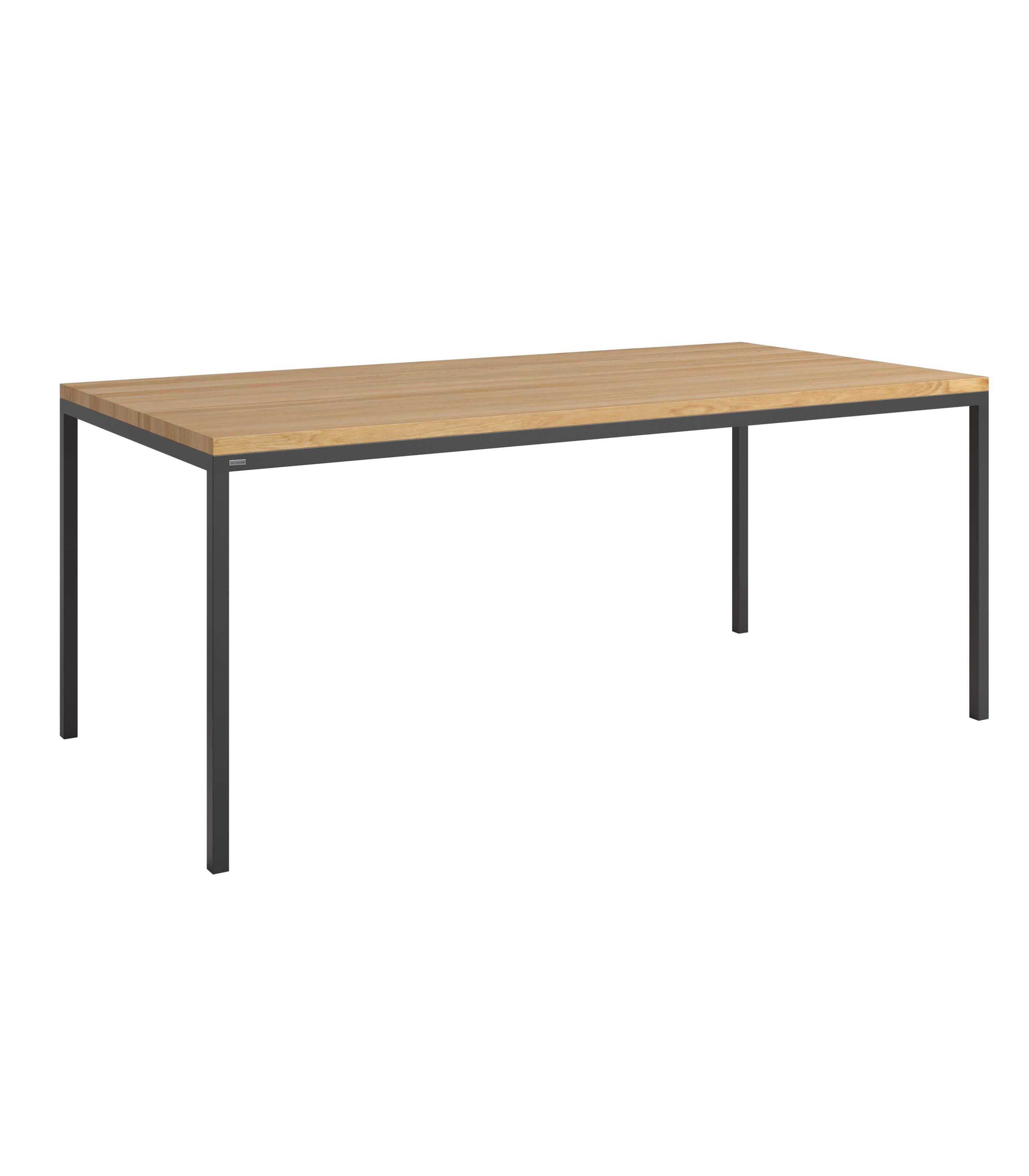 stół minimalistyczny drewniany czarny do jadalni