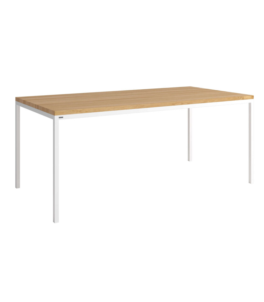 bialy prosty stol do jadalni