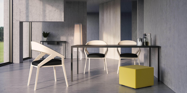 czarny nowoczesny minimalistyczny stol