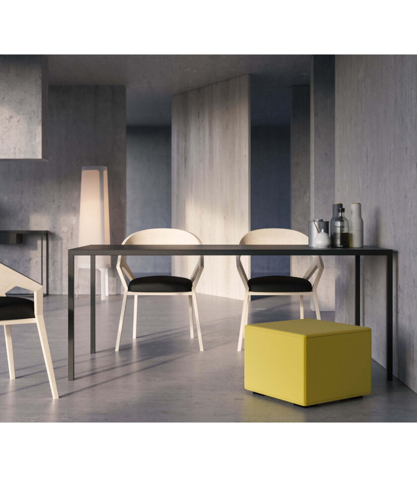 czarny stalowy stol simplico