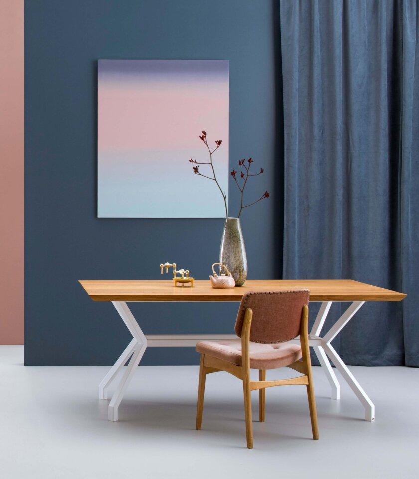 nowoczesny stol jadalniany dab bialy
