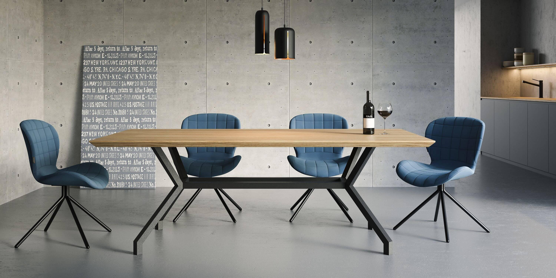 stół do jadalni nowoczesny dąb czarny drewniany