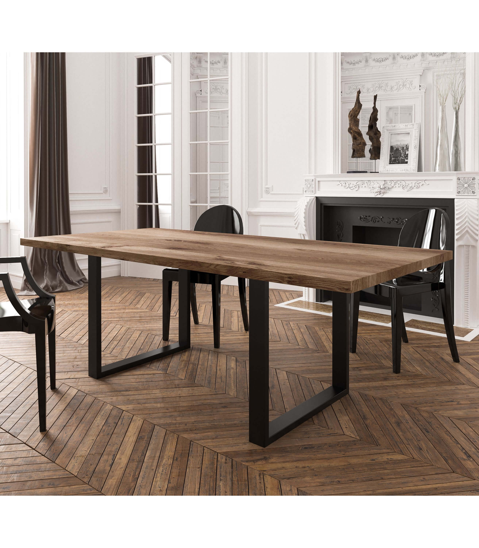 stół dębowy czarny drewniany nowoczesny do salonu